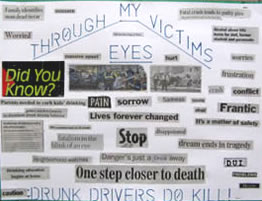 An offender at MCF-Lino Lakes created this poster to represent empathy for crime victims